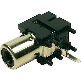 RCA connector Socket, horizontal mount Cliff FC68371 1 pc(s)