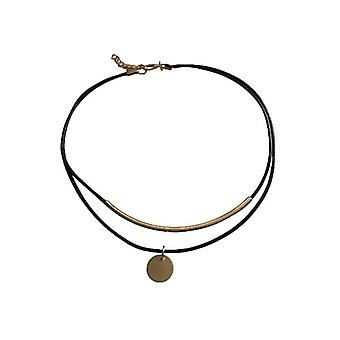 Minimalistisk uttalande choker halsband med guld accent