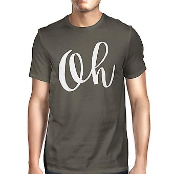 Oh Mens Cool Grey Tees Funny Short Sleeve Typographic T-shirt
