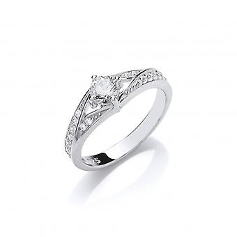 Cavendish French Silver and CZ Solitaire Gina Ring