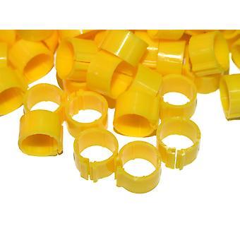 Clic ben Ring For voksne høns Med/tunge racen gule 16mm 100pack