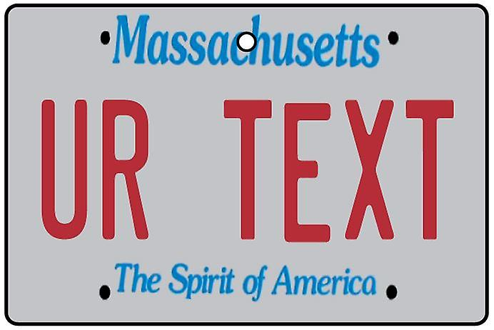 Personalised Massachusetts Numberplate Car Air Freshener