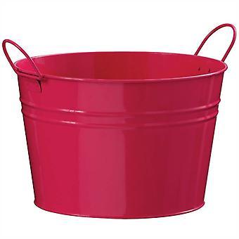 Redonda Zinc cubo rosa