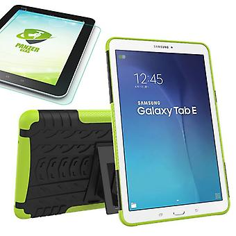 Hybrid outdoor bag Green for Samsung Galaxy tab E 9.6 SM T560 + 0.4 armoured glass
