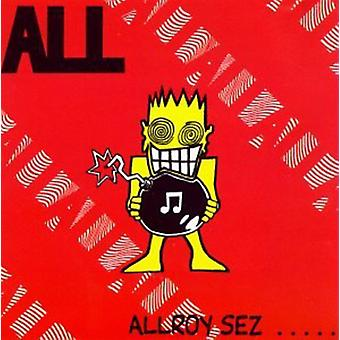 Alla - Allroy Sez [CD] USA import