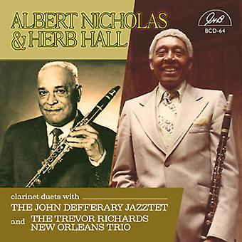 Nicholas, Albert / Hall, Herb - klarinet duetter med Trio & Jazztet [CD] USA import