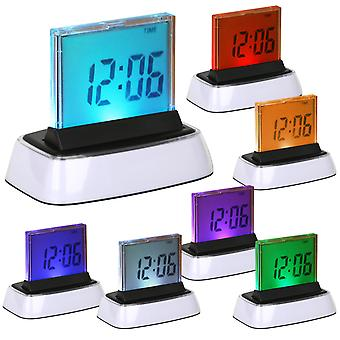 DIGIFLEX COLOUR 7 LED DIGITAL LCD ALARM CLOCK+THERMOMETER - NEW VERSION 2