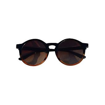 Urban style sunglasses with round glass Black-Brown