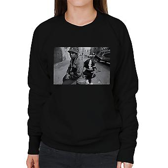 Eric B And Chuck D On The Streets Of New York 1980s Women's Sweatshirt