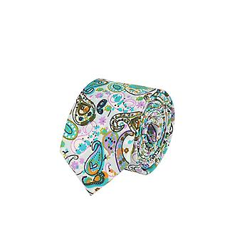 Snobbop narrow tie Club tie tie light blue Paisley 6 cm