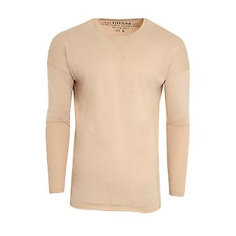 CARISMA sved sweater mænds sweater beige rund hals
