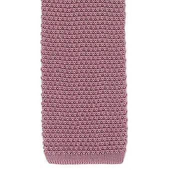 Michelsons of London Silk Knitted Tie - Pink
