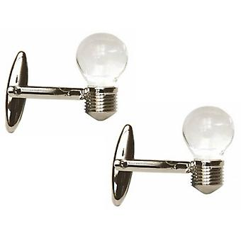 Zennor Light Bulb Cufflinks - Silver