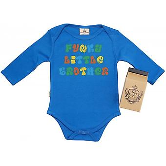 Spoilt Rotten Funky Little Brother Baby Grow 100% Organic In Milk Carton