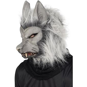 Smiffys Werewolf Mask Grey With Hair And Ears (Kostuums)