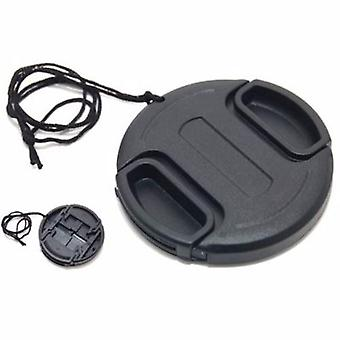 JJC 46mm Plastic Snap-on Lens Cap with lens cap keeper for Cameras and Camcorders