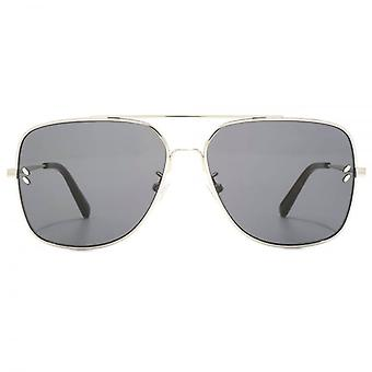 Stella McCartney Vintage Square Aviator Sunglasses In Silver