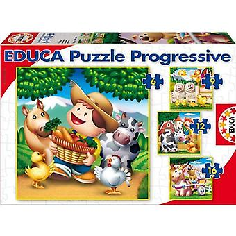 Educa Puzzle Animals Multi (Speelgoed , Bordspellen , Puzzels)