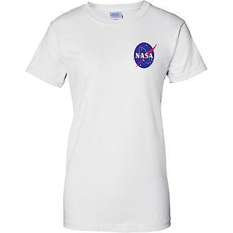 NASA Logo - National Aeronautics and Space Administration - Ladies Chest Design T-Shirt