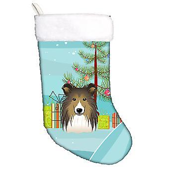 Albero di Natale di Carolines tesori BB1614CS e Sheltie calza di Natale