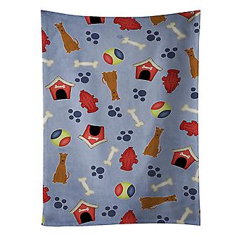 Carolines Treasures  BB2675KTWL Dog House Collection Irish Terrier Kitchen Towel