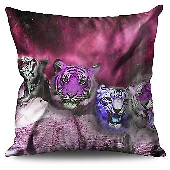 Tiger Space Beast Animal Linen Cushion Tiger Space Beast Animal | Wellcoda