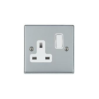 Hamilton Litestat Hartland chromé brillant 1g 13 a DP commuté Socket WH/WH