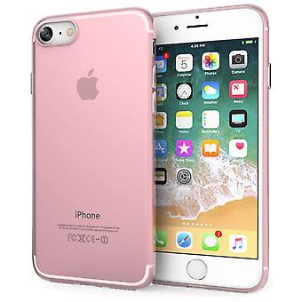 iPhone 8 TPU Gel med indre prikker - Rose Pink