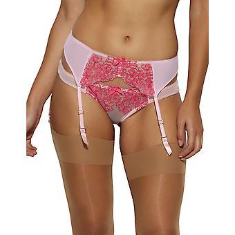 Gossard 14402 Frauen Farbe Clash Himbeeren Kuss Pink Floral bestickten Garter Belt Strapsgürtel