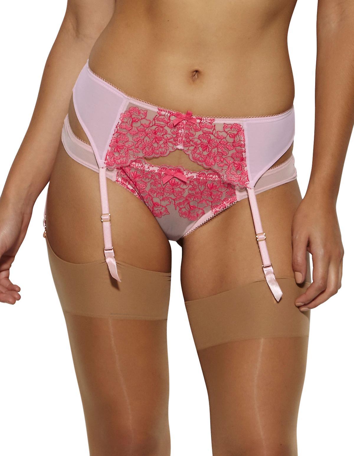 اللون جوسارد 14402 المرأة الصدام الرباط مطرزة الأزهار الوردية قبله التوت حزام حزام سوسبيندير