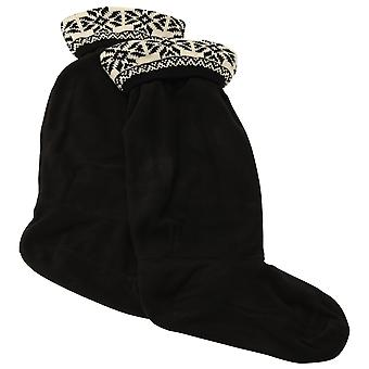 Damen/Damen Fleece Wellie Socken mit Fairisle-Muster (1 Paar)