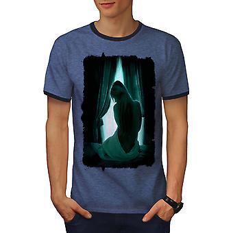 Meisje Mystic Cool mannen Heather blauw / NavyRinger T-shirt | Wellcoda