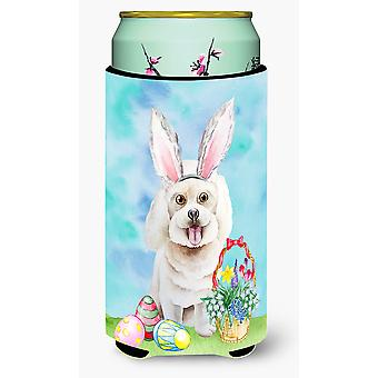 Bichon Frise Easter Bunny Tall Boy Beverage Insulator Hugger