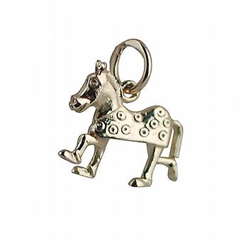 9ct Gold 13x15mm Pantomime Horse Pendant or Charm