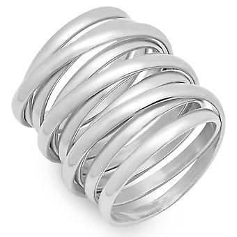 Ladies rustfritt stål Multiwrap Ring
