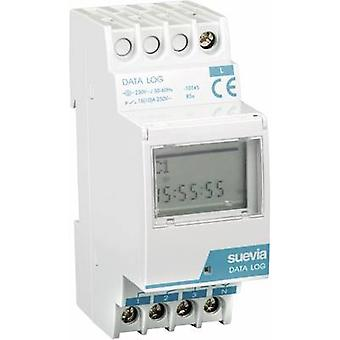 DIN rail mount timer digital Suevia Data Log I 230 V AC