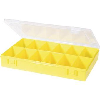 Assortment box (L x W x H) 335 x 225 x 55 mm Alutec No. of compartments: 12 fixed compartments