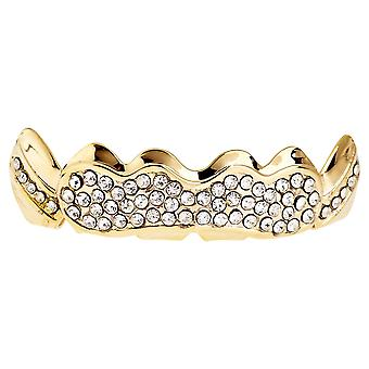 One Size Fits All Bling Grillz - SHINING TOP - Gold