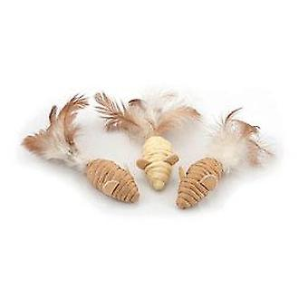 Nayeco Ratoncitos feathered cat (Cats , Toys , Plush & Feather Toys)