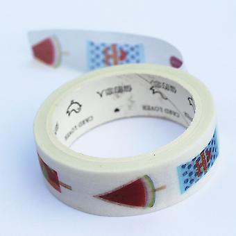 Ice Lolly decoratieve Washi papier Tape 7 m x 15 mm breed - Craft