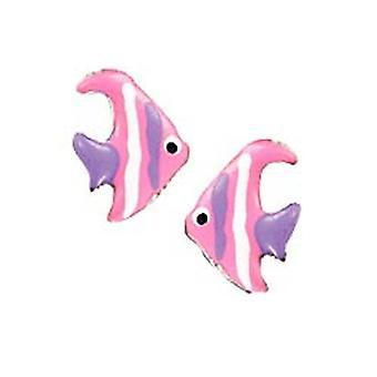 Scout chica de pescado rosado fresa plata niños pendientes oreja 262115100