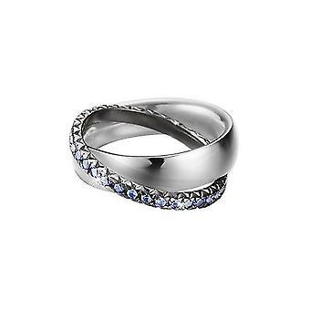ESPRIT pellet ladies ring silver zirconia heart ESRG91774A1