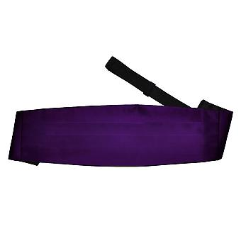 Purple Plain Satin Kummerbund