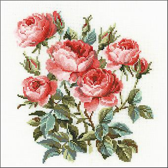 Garden Roses Counted Cross Stitch Kit-15.75