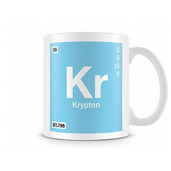 Element Symbol 036 Kr - Krypton Printed Mug