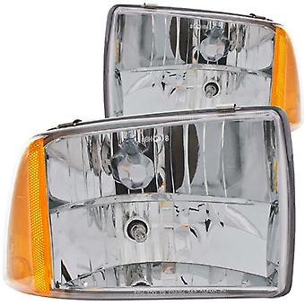 Anzo USA 111078 Chevrolet Blazer Crystal Clear With Amber Reflectors Headlight Assembly - (Sold in Pairs)