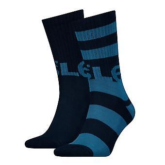Levi's 2 Pack Rugby Logo Socks - Dark Blue Combo
