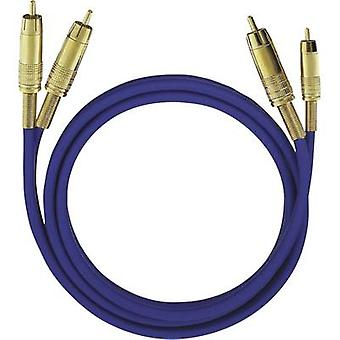 Oehlbach RCA Audio/phono Cable [2x RCA plug (phono) - 2x RCA plug (phono)] 3 m Blue gold plated connectors