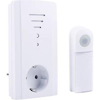 Byron B421E Wireless door chime Complete set backlit, incl. nameplate