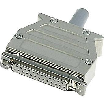 D-SUB housing Number of pins: 25 Plastic, metallised 180 ° Silver Harting 09 67 025 0453 1 pc(s)